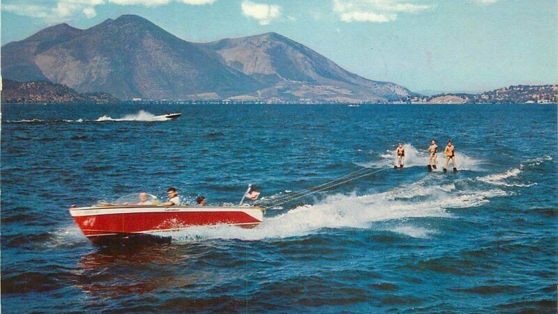 Water skiing in the Highlands, circa 1962.
