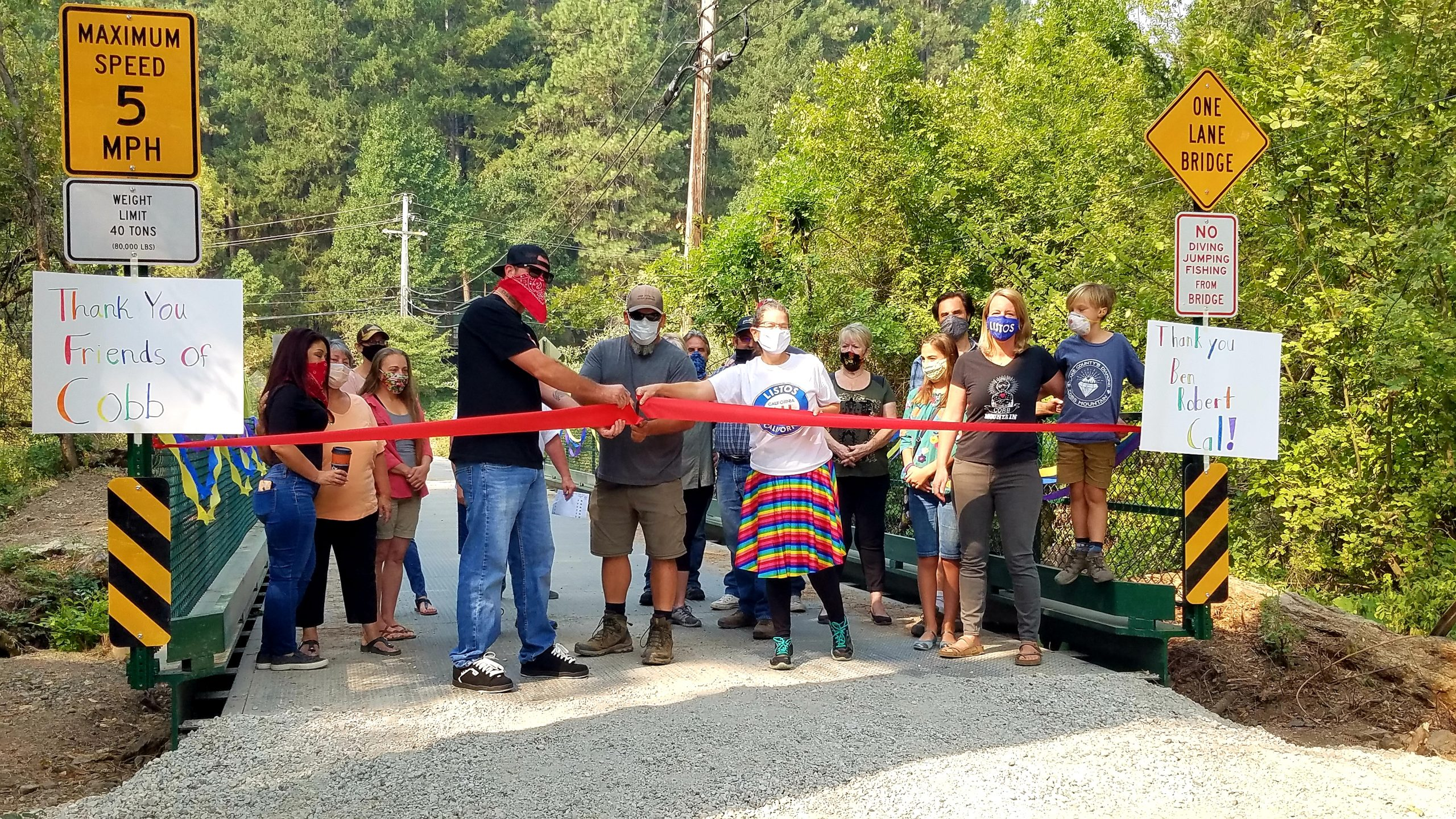 Cobb Area Council, Cobb Water, and Community members cut the ribbon.